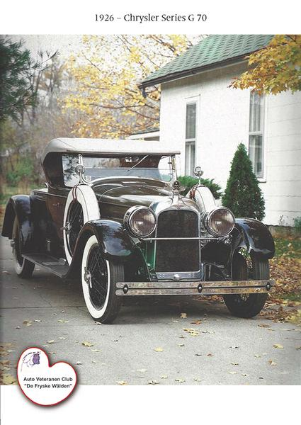 1926 - Chrysler Series G 70